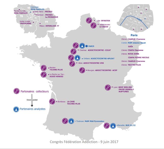 Carte de France mission XBT
